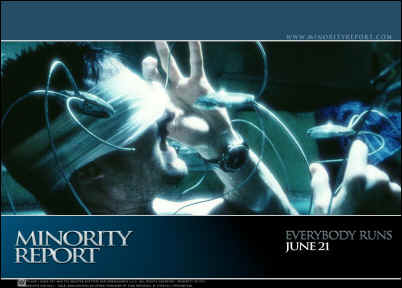 Minority Report: spider robots performing a retinal scan -- [www.minorityreport.com]