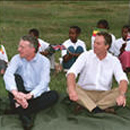 Benn and Blair in Addis Ababa - 2004