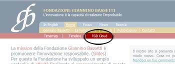 Messa in evidenza del link della FGB Cloud
