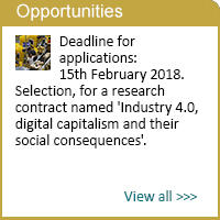Research contract named 'industry 4.0, digital capitalism and their social consequences'.