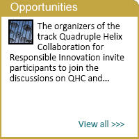 Special track on Quadruple Helix Collaboration for Responsible Research and Innovation