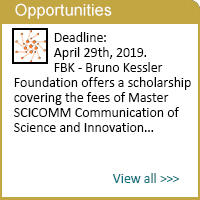 Master SCICOMM Communication of Science and Innovation - Scholarship