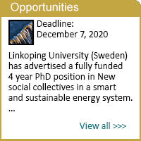 PhD position in New social collectives in a smart and sustainable energy system