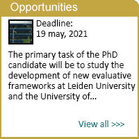 Leiden University: PhD candidate in Social Studies of Science with a focus on research evaluation