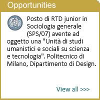 Junior per studi umanistici e sociali su scienza e tecnologia